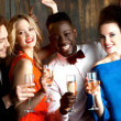 Couples enjoying champagne or wine at a party — Stock Photo