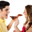 It's pizza time, yummy delicious. — Stock Photo