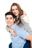 Attractive young couple having fun — Stock Photo