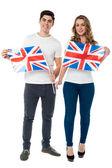 Wij zijn trots op britse voorstanders — Stockfoto