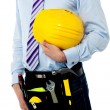Cropped image of a man with safety helmet — Stock Photo #30752391