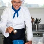 Chef preparing a dish — Stock Photo #30752615