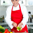 Stock Photo: Chef preparing the dish