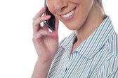 Woman using cellphone — Stock Photo