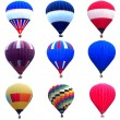 Hot air balloon collections — Stock Photo