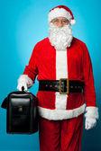 Nouvelle mallette de Santa holding — Photo