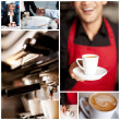 Cappuccino collage — Stock Photo