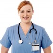 Pretty young female doctor — Stock Photo