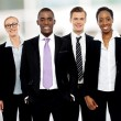 Team of corporate associates posing — Stock Photo