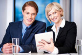 Our business is growing annually boss! — Stock Photo