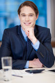 Portrait of handsome young businessman — Stock Photo
