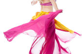 Belly dancer in action, cropped image. — Stock Photo