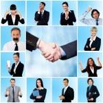 Collage of elegant businessmen and women — Stock Photo