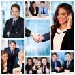 Stock Photo: Group of business people, collage.