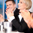 Business associates applauding — Stock Photo
