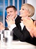 Business associates applauding — Stock Photo