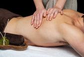 Man getting a back massage — Stock Photo