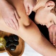 Young man getting massage — Stock Photo #42114973