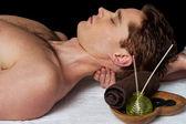 Masseur doing neck massage — Stock Photo