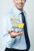 Add to cart, e-commerce concept. — Foto de Stock