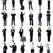 Group of business people, collage concept. — Stock Photo #45257603