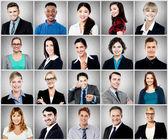 Composition of diverse people smiling — Stock Photo