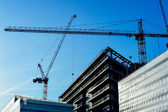 Construction of a high-rise building — Stock Photo