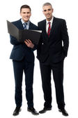 Confident business people posing — Stock Photo