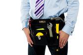 Closeup immagine della cintura strumento tuttofare — Foto Stock