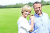 Lovable middle aged couple — Stock Photo