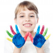 Girl playing with colors — Stock Photo #51150663