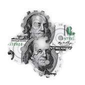 Working dollars — Stock Photo
