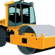 Original road roller - Stock Vector
