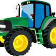 Green agricultural tractor — Stock Vector #22609263