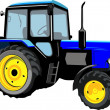 Stock Vector: Beautiful tractor