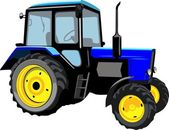 Hermoso tractor — Vector de stock