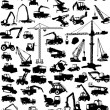 Construction techniques big collection — Stock Vector