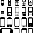 Royalty-Free Stock Vector Image: Set of cell phones