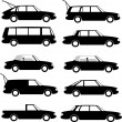 Collection of different car types - Stock Vector
