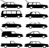Collection of different car types — Stock Vector