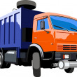 Stock Vector: Garbage truck