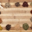 Stock Photo: Mix spices frame