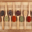 Twelve spoon of spices — Stock Photo