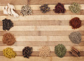Mix spices frame — Stock Photo