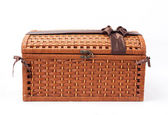 Wicker chest — 图库照片