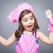 Excited little cook — Stock Photo