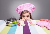 Hiding chef — Stock Photo
