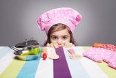 Hiding chef — Stock Photo