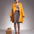 Stock Photo: Yellow topcoat