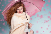 Ginger umbrella — Stock Photo